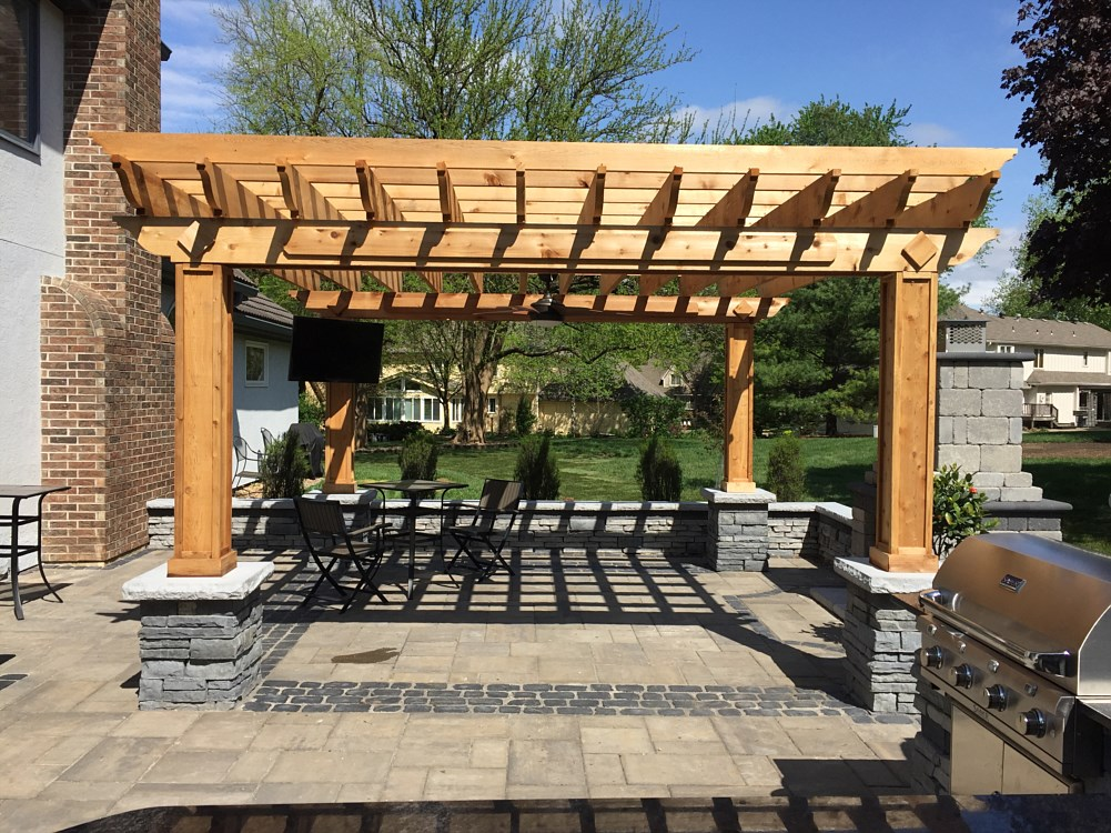 Pergolas and Decks - Landscaping Photos, Paver Photos Leawood, Overland Park, Olathe, KS