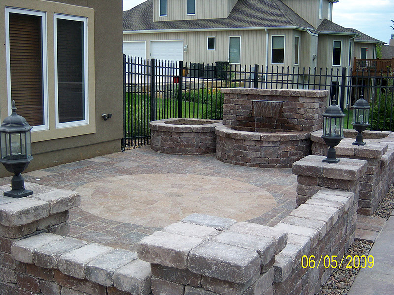 Custom Patio And Water Feature